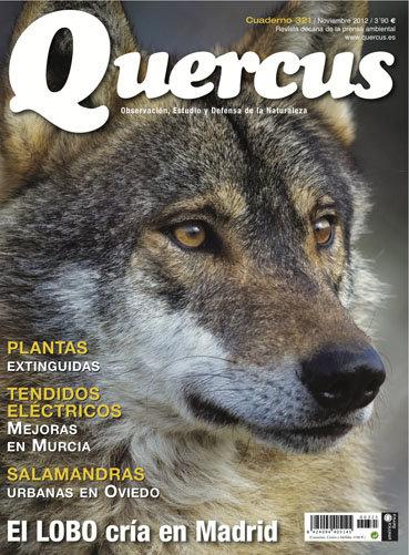 Portada Quercus nº 321 / Noviembre 2012