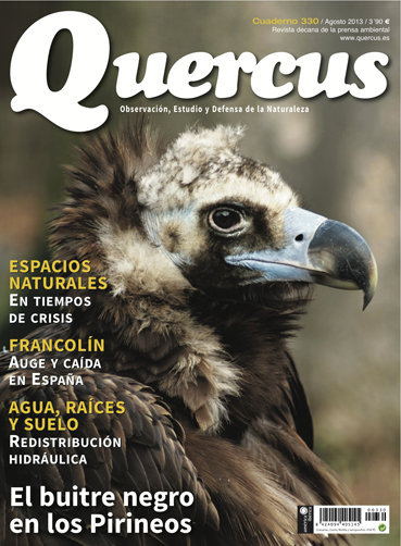 Portada Quercus nº 330 / Agosto 2013