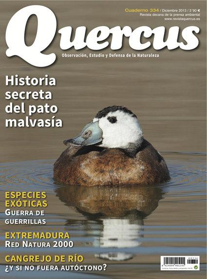 Portada Quercus nº 334 / Diciembre 2013