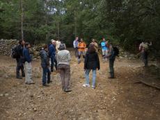 Excursión al campo por los alrededores de Vilafranca (Castellón), dentro de las Segundas Jornadas de la Sociedad de Historia Natural de Els Ports (foto: Rafael Serra).