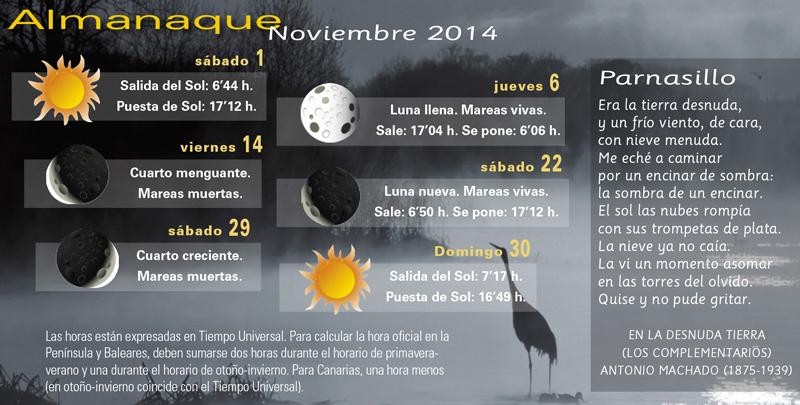 Almanaque Noviembre