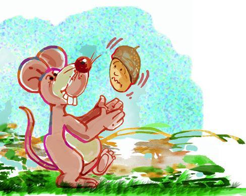 """Ilustración del cuento """"Las aventuras de Doña Bellota"""". Autor: Carlos Barbieri."""