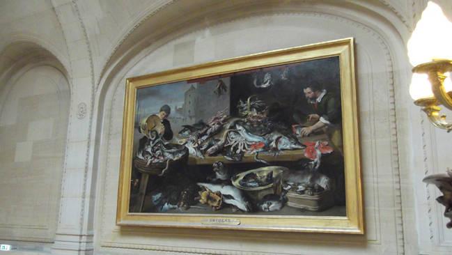 'Pescadores en su puesto', cuadro de Frans Snyders expuesto en el Museo del Louvre (París). Foto: Juan Carlos Báez.