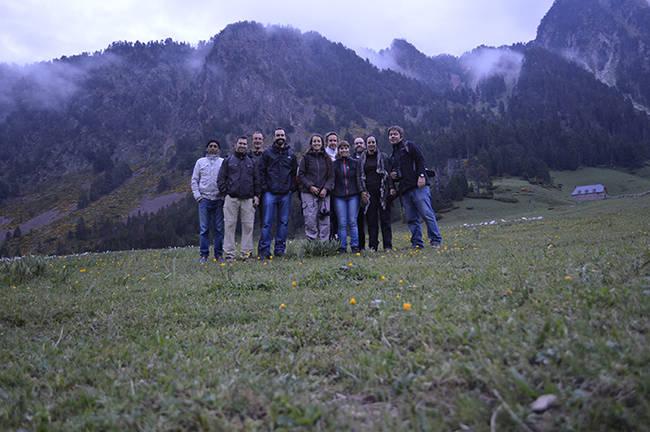 Miembros de la Alianza Europa para la Conservación del Lobo, en Vall d'Arán (Lleida). Foto: Duarte Cadete.