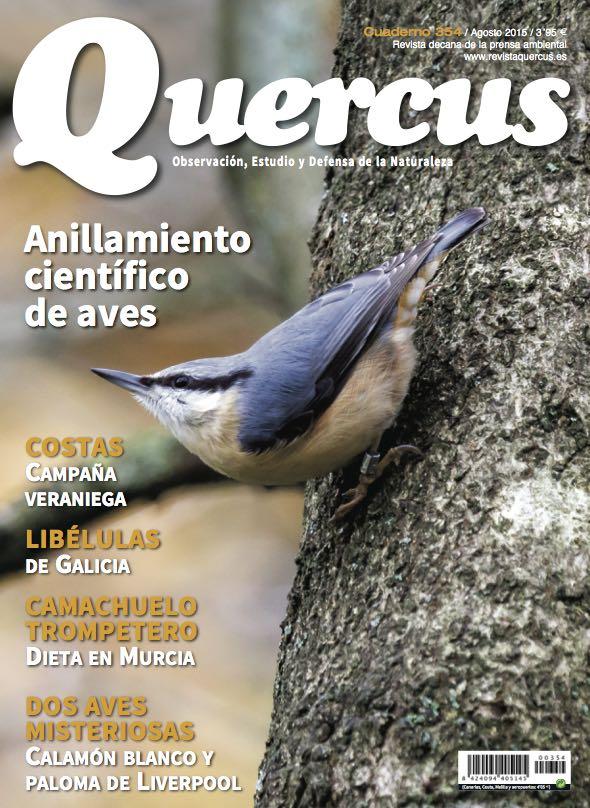 Portada Quercus nº 354 / Agosto 2015
