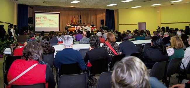 Acto de inauguración del Congreso Internacional de Milano Real en Binaced (Huesca). Foto: Isabel Rodríguez / FAB.
