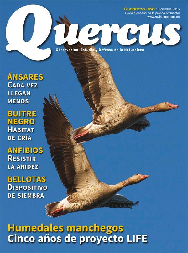 Sumario Quercus nº 358 / Diciembre 2015