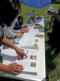 Varios aficionados participan en un taller pr�ctico sobre mariposas (foto: Asociaci�n Alas).