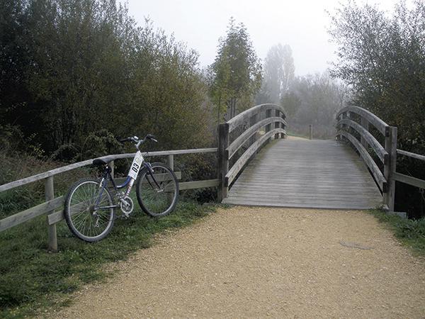 Uno de los muchos caminos que pueden recorrerse, a pie o en bicicleta, por los humedales de Salburua-Ataria (foto: Rafael Serra).