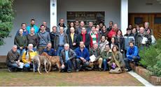 Foto de grupo de miembros de la SGHN asistentes al encuentro de Alcal� de los Gazules (C�diz).