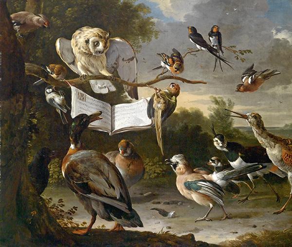 Hondecoeter y la pintura animalista del XVII