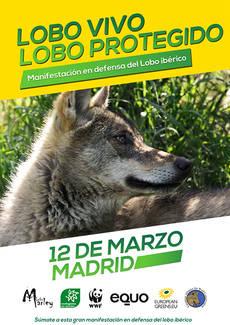 12 de marzo: gran cita en defensa del lobo