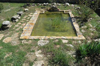Estanque construido en 2012 para anfibios en Colmenar de Oreja (Madrid). Foto: Javier Cano.