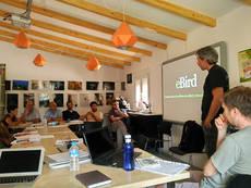 Un momento del II Encuentro de Revisores de eBird España (foto: Juan José Iglesias / Grefa).
