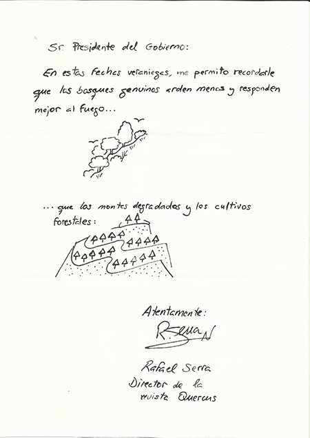 'Cartas desde el bosque' escritas con las cenizas del incendio de Doñana