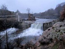 Presa del río Aravalle, en Ávila, una vez demolida (foto: Centaurea).