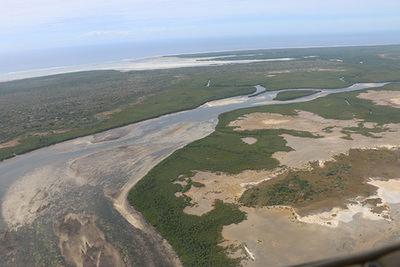 Vista aérea de los manglares de la nueva Reserva de la biosfera de las Quirimbas, en el norte de Mozambique (foto: Unesco/Djaffar Moussa-elkadhum).