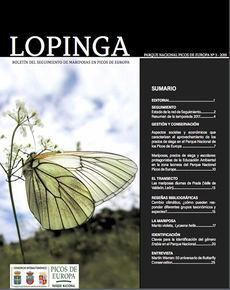 Portada del tercer número de la revista Lopinga, correspondiente a 2018.