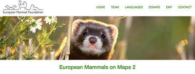 Esta imagen de un visón europeo encabeza la web del proyecto EMMA 2.