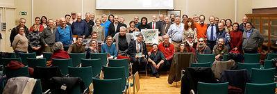 Foto de grupo de los participantes en el homenaje a Joaquín Araújo (foto: Jorge Sierra).