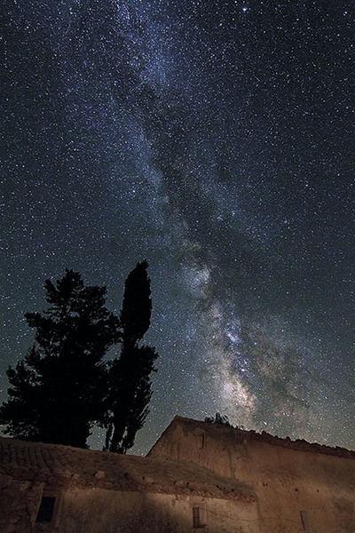 Cielo nocturno desde el Parque Natural de Cazorla (foto: Diputación Provincial de Jaén).