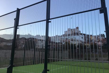 Pista de pádel de Bubierca (Zaragoza). Foto: Gobierno de Aragón.