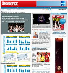 Nuestros compañeros de Gigantes del Basket, estrenan nuevo diseño web !!!